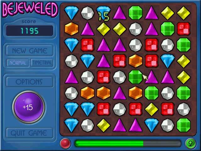 Bejeweled game. Download Bejeweled.