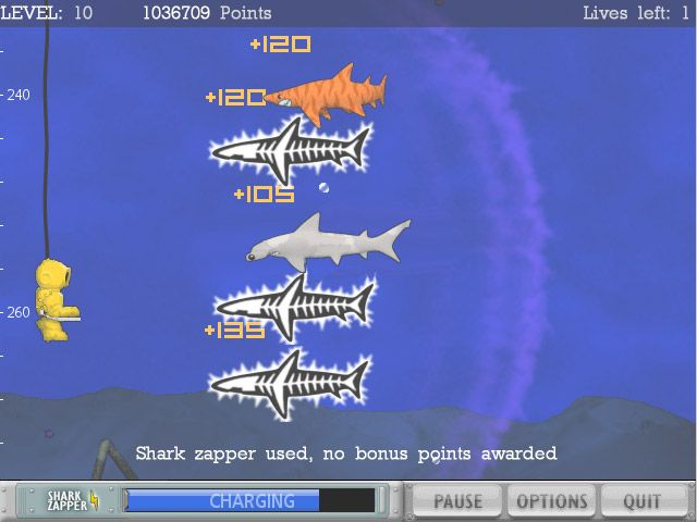 Typer Shark game. Typer Sharks download. Game screenshot